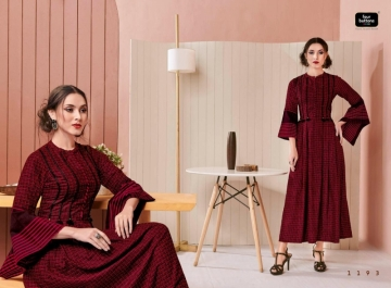 Four-Buttons-Hashtag-Pure-Cotton-Ankle-Length-Gown-Style-Kurti-Collection-7