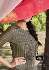 FOUR-BUTTONS-PRESENTS-PEACH-PURE-WEAVING-COTTON-KURTI-WITH-PANT-01-JPG