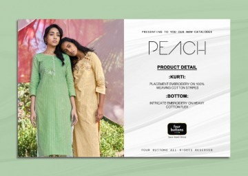 FOUR-BUTTONS-PRESENTS-PEACH-PURE-WEAVING-COTTON-KURTI-WITH-PANT-10-JPG