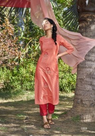 FOUR-BUTTONS-PRESENTS-PEACH-PURE-WEAVING-COTTON-KURTI-WITH-PANT-5-JPG