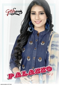 GEESONS PALAZZO VOL-5 PURE DENIM EMBROIDERY SUITS WITH DUPATTA (01) JPG