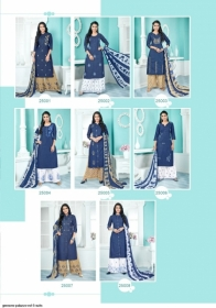 GEESONS PALAZZO VOL-5 PURE DENIM EMBROIDERY SUITS WITH DUPATTA (11) JPG
