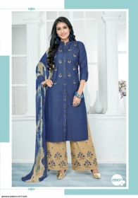 GEESONS PALAZZO VOL-5 PURE DENIM EMBROIDERY SUITS WITH DUPATTA (12) JPG