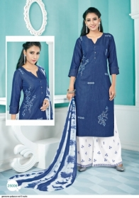 GEESONS PALAZZO VOL-5 PURE DENIM EMBROIDERY SUITS WITH DUPATTA (3) JPG