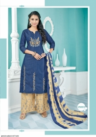 GEESONS PALAZZO VOL-5 PURE DENIM EMBROIDERY SUITS WITH DUPATTA (8) JPG