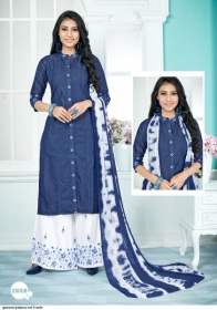 GEESONS PALAZZO VOL-5 PURE DENIM EMBROIDERY SUITS WITH DUPATTA (9) JPG