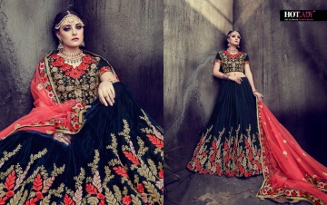 HOTLADY SUHAANI VELVET SILK BRIDAL LEHENGA WEDDING LEHENGA COLLECTION WHOLESALE PRICE (10)JPG