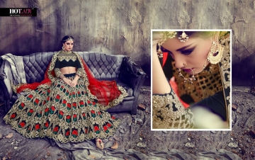 HOTLADY SUHAANI VELVET SILK BRIDAL LEHENGA WEDDING LEHENGA COLLECTION WHOLESALE PRICE (4)JPG