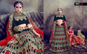 HOTLADY SUHAANI VELVET SILK BRIDAL LEHENGA WEDDING LEHENGA COLLECTION WHOLESALE PRICE (6)JPG