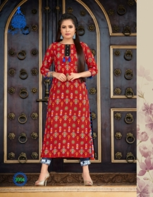 KAJAL STYLE FASHION ETERNAL VOL 2 RAYON PRINTED KURTIS WHOLESALE PRICE(3)JPG