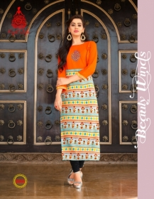KAJAL STYLE FASHION ETERNAL VOL 2 RAYON PRINTED KURTIS WHOLESALE PRICE(6)JPG