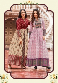 KAJAL STYLE MUMTAJ VOL 3 HEAVY LOAN COTTON ORDINARY PRINTED KURTIS WHOLESALE PRICE(10JPG