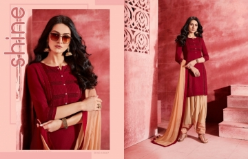 KAJREE ESTEEM BY PATIYALA RAYON DESIGNER EMBROIDERY SALWAR SUITS (01) JPG