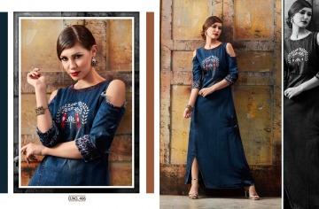 KAJREE FASHION BLUE LEE EMBROIDERED GOWN WHOLESALE PRICE (10) JPG