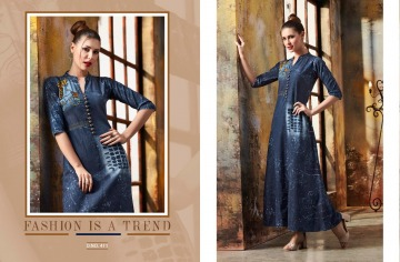 KAJREE FASHION BLUE LEE EMBROIDERED GOWN WHOLESALE PRICE (5) JPG