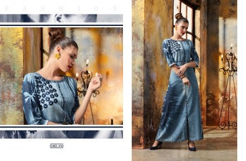 KAJREE FASHION BLUE LEE EMBROIDERED GOWN WHOLESALE PRICE (7) JPG