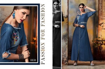 KAJREE FASHION BLUE LEE EMBROIDERED GOWN WHOLESALE PRICE (8) JPG