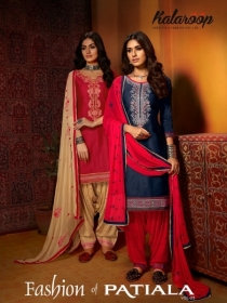 KAJREE FASHION OF PATIYALA VOL-25 COTTON SATIN SUITS WITH BOTTOM (01) JPG