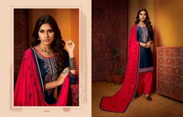 KAJREE FASHION OF PATIYALA VOL-25 COTTON SATIN SUITS WITH BOTTOM (10) JPG