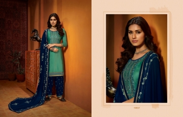 KAJREE FASHION OF PATIYALA VOL-25 COTTON SATIN SUITS WITH BOTTOM (8) JPG