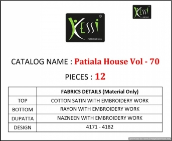 KESSI FABRICS PATIALA HOUSE VOL-70 COTTON SATIN WITH EMBROIDERY WORK SUITS WHOLESALE PRICE (02) JPG