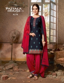 KESSI FABRICS PATIALA HOUSE VOL-70 COTTON SATIN WITH EMBROIDERY WORK SUITS WHOLESALE PRICE (04) JPG