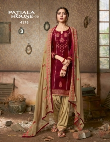 KESSI FABRICS PATIALA HOUSE VOL-70 COTTON SATIN WITH EMBROIDERY WORK SUITS WHOLESALE PRICE (05) JPG