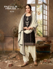 KESSI FABRICS PATIALA HOUSE VOL-70 COTTON SATIN WITH EMBROIDERY WORK SUITS WHOLESALE PRICE (03) JPG