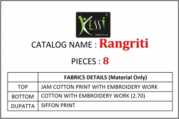 KESSI FABRICS RANGRITI COTTON PRINT WITH EMBROIDERY WORK SUITS (3) JPG
