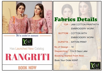 KESSI FABRICS RANGRITI COTTON PRINT WITH EMBROIDERY WORK SUITS (6) JPG