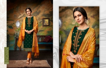 KESSI PARNEETA JAM SILK COTTON WITH FOIL PRINT WITH WORK SALWAR KAMEEZ  WHOLESALE PRICE (10)JPG