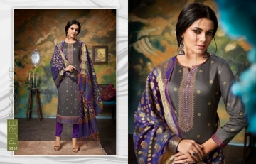 KESSI PARNEETA JAM SILK COTTON WITH FOIL PRINT WITH WORK SALWAR KAMEEZ  WHOLESALE PRICE (2)JPG