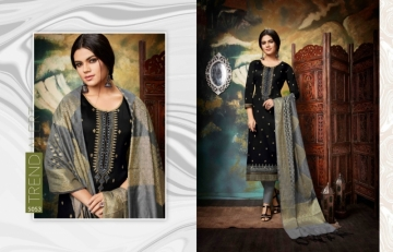 KESSI PARNEETA JAM SILK COTTON WITH FOIL PRINT WITH WORK SALWAR KAMEEZ  WHOLESALE PRICE (3)JPG
