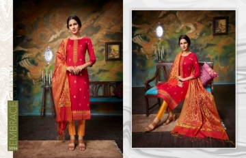 KESSI PARNEETA JAM SILK COTTON WITH FOIL PRINT WITH WORK SALWAR KAMEEZ  WHOLESALE PRICE (6)JPG