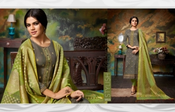 KESSI PARNEETA JAM SILK COTTON WITH FOIL PRINT WITH WORK SALWAR KAMEEZ  WHOLESALE PRICE (7)JPG