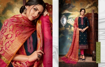 KESSI PARNEETA JAM SILK COTTON WITH FOIL PRINT WITH WORK SALWAR KAMEEZ  WHOLESALE PRICE (8)JPG