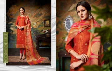 KESSI PARNEETA JAM SILK COTTON WITH FOIL PRINT WITH WORK SALWAR KAMEEZ  WHOLESALE PRICE (9)JPG