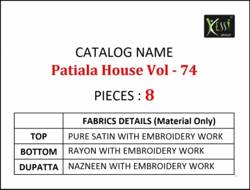 KESSI PATIYALA HOUSE VOL-74 PURE SATIN WITH EMBROIDERY WORK SUITS (2) JPG