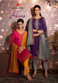 KESSI RAMAIYA ASIANA JAM SILK EMBROIDERY SUITS WITH DUPATTA (10) JPG
