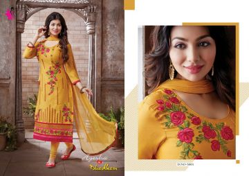 KHWAISH AYESHA COTTON MATERIAL EMBROIDERED SUITS WHOLESALE PRICE (2)JPG