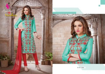 KHWAISH AYESHA COTTON MATERIAL EMBROIDERED SUITS WHOLESALE PRICE (3)JPG