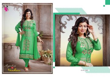 KHWAISH AYESHA COTTON MATERIAL EMBROIDERED SUITS WHOLESALE PRICE (5)JPG