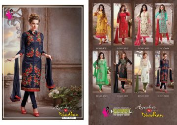 KHWAISH AYESHA COTTON MATERIAL EMBROIDERED SUITS WHOLESALE PRICE (7)JPG