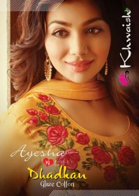 KHWAISH AYESHA COTTON MATERIAL EMBROIDERED SUITS WHOLESALE PRICE (8)JPG