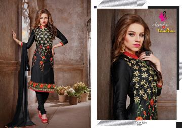 KHWAISH AYESHA COTTON MATERIAL EMBROIDERED SUITS WHOLESALE PRICE (9)JPG