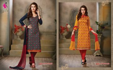 KHWAISH HOLLYWOOD COTTON MATERIAL SALWAR SUITS WHOLESALE PRICE (5)JPG