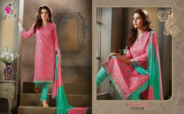 KHWAISH HOLLYWOOD COTTON MATERIAL SALWAR SUITS WHOLESALE PRICE (6)JPG