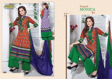 KHWAISH PASAND MONICA KI COTTON EMBROIDED SALWAR SUITS WHOLESALE SUPPLIER SURAT (3) JPG