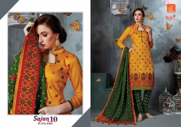 KITY CREATION SAJAN VOL 10 SATIN JACAKRD EMBROIDED DESIGNER SUITS WHOLESALE PRICE(1)JPG