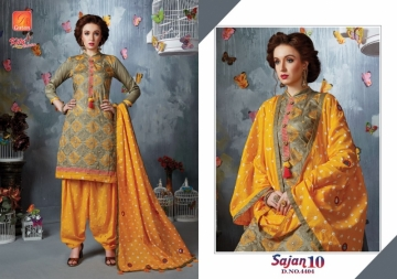 KITY CREATION SAJAN VOL 10 SATIN JACAKRD EMBROIDED DESIGNER SUITS WHOLESALE PRICE(4)JPG